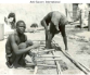 Slaves working in courtyard in Cameroon