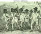 39)	Chain gang of slaves working on the roads in West Indies