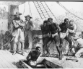 Enslaved Africans being forced beneath the decks